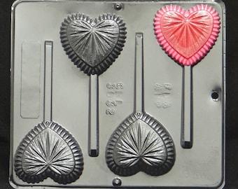 Fancy Heart Lollipop Candy Mold Valentine's Day / Wedding 3032
