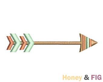 Tribal Arrow Embroidery Design-Boho Arrow-Embroidery Files- Arrow Embroidery Design