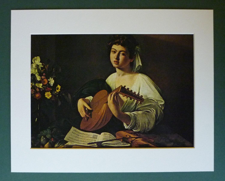 Caravaggio Druck laute Spieler Kunst verfügbar gerahmt
