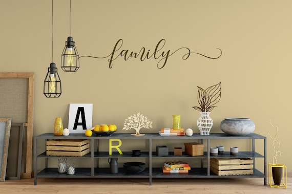 Family Decal Wall Words Vinyl Lettering Bedroom Decor quote Vinyl Wall Decal