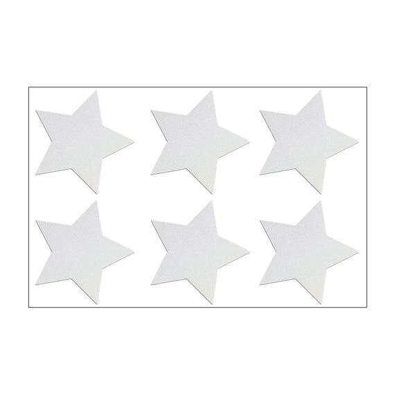 6 reflektierende sterne zum aufkleben reflektor aufkleber set. Black Bedroom Furniture Sets. Home Design Ideas