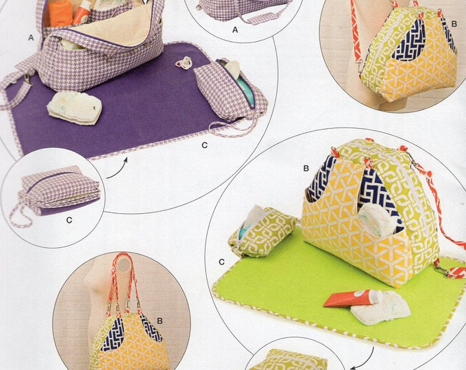 Free Us Ship Craft Sewing Pattern Simplicity 8031 BackPack Studio Cherie Convertible Organizer Baby Tote Diaper Bag Toys Changing Pad Uncut
