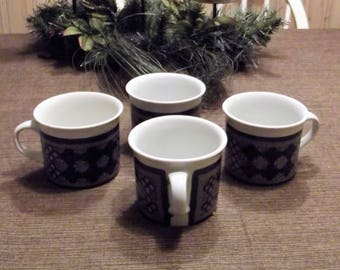 Vintage Royal Doulton *-* TANGIER *-* Flat Cups, 4 available