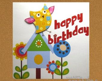 Happy Birthday-Bright and cheerful birthday card