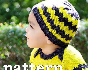 make your own Ollie Hat (DIGITAL KNITTING PATTERN) preemie newborn baby toddler child adult