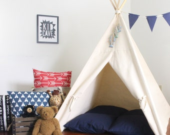 Kids Teepee, Play Tent, Two Sizes Available, Ready To Ship, Can Include Window, Large Kids Teepee Tent, Secret Hiding Place