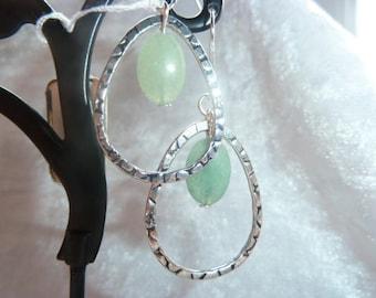 Genuine AVENTURINE GEMSTONES earrings