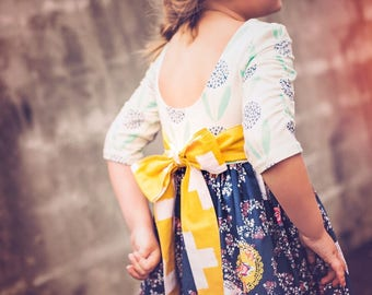 Wimberley Dress and Tunic PDF Sewing Pattern, Including sizes 12 months - 12 years, Girls Pattern, Knit Pattern