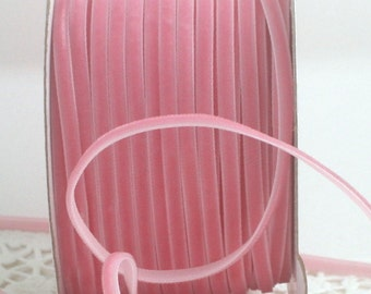 """Pink Velvet Ribbon, 1/8"""" wide"""