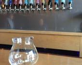 Da Wobble Glass, 10oz, Beer Glass, Bar Glass, Craft Beer, Beer, Pretentious Glass, Glassware, Blown Glass