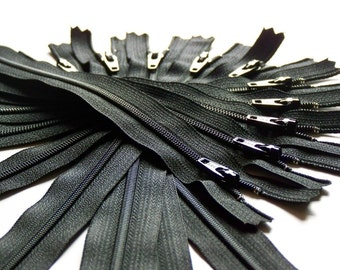 16 Inch Black Zippers YKK (10) Pieces Color 580