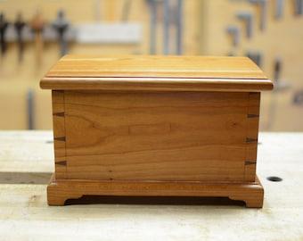 Handmade Jewelry Box / Cherry Keepsake Box / Cherry Jewelry Box / Custom Trinket Box / Custom Jewelry Box / Treasure Box / Small Wooden Box