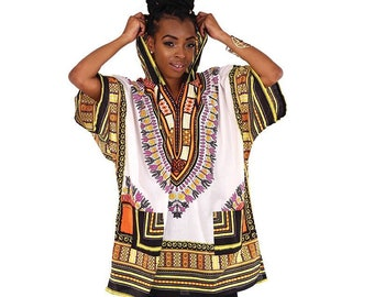 TWO FOR 35!!!--Traditional Print Hooded Dashiki