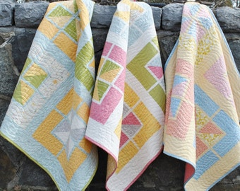 PDF Baby Quilt Pattern, ....Quick and Easy, Fat Quarters, Walking on Sunshine