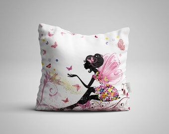 Bankrupted Silk Farmer Recites Poems In Sign Language - Butterflies Throw Pillow