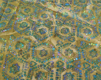Brown Batik Cotton Fabric