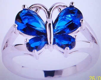 BLUE BUTTERFLY RING in Sizes 10 and 11 Womens