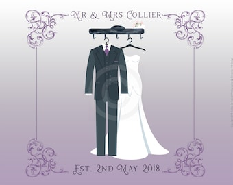 Family Sign -  Newly Weds Signatures' Print Personalised Digital Design Print Your Own