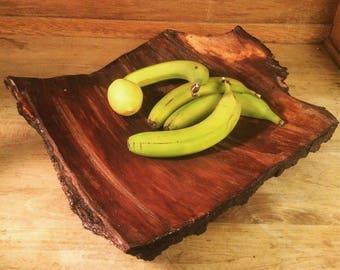 Bark Fruit Bowl, wood bowl, natural wood, bowl, fruit bowl, Bark, Natural bark, Decorative bowl