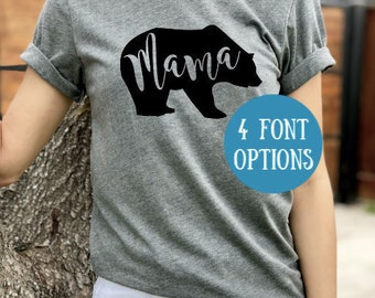 Mama Bear T-Shirt | Mama Bear Shirt | Mom Shirt | New Mom | Mom-to-be | Baby Announcement Shirt | Pregnancy Announcement | Bear Family Shirt