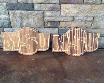 Midwestern State University - Wood Sign