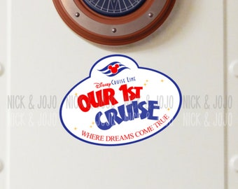 Our First Cruise - Tag Magnet - Disney Cruise Magnet - Door Magnets