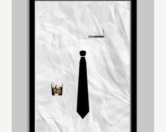 Marketing Men Minimalist Poster