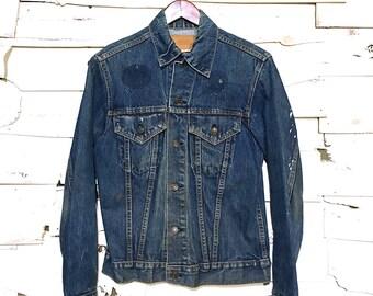 Vintage Levi's Indigo Denim Jean Jacket Made in USA - Small