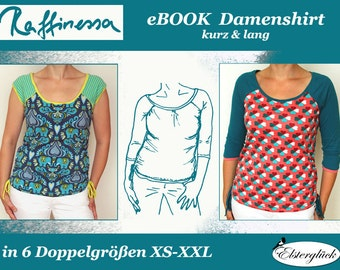 ebook RAFFINESSA sewing pattern Raglan Shirt for Women