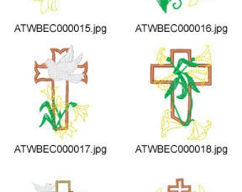 Easter-Lily-Applique ( 10 Machine Embroidery Designs from ATW ) XYZ17C
