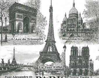 2 monument in Paris paper napkins (316)