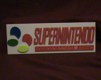 custom 3d printed super nintendo sign