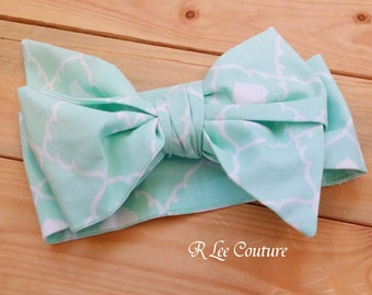 Mint Headwrap - Bow Headwrap - Mint Head Wrap - Mint Bow - Baby Headwrap
