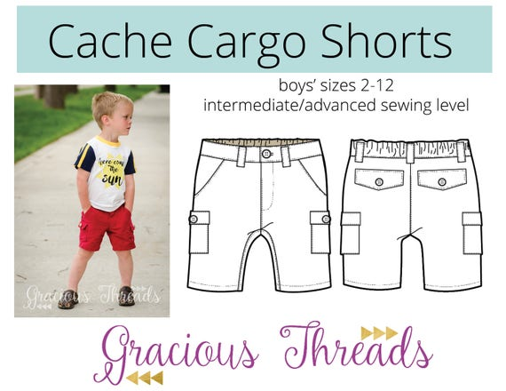 Cache cargo shorts pdf sewing pattern 2t 12 malvernweather Image collections