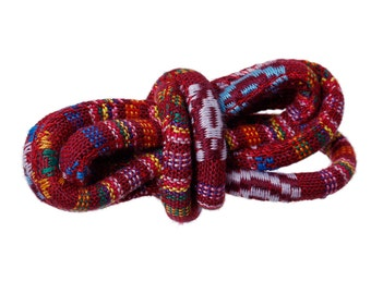 """One dollar SALE Ethnic Cotton Jewelry Rope - Red Wine 6.0mm (1/4"""")"""