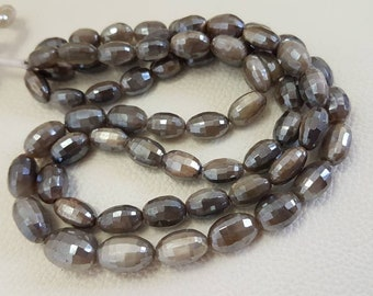 Natural mystic grey color moonstone faceted nuggets,AAA quality mystic moonstone faceted nuggets 12.8-16.12mm size 8 inches strand