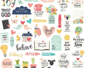 Simple Stories Faith Bits and Pieces Cardstock Die-Cuts