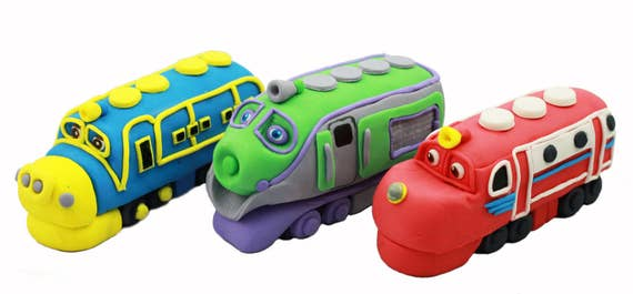 Chuggington Train cake topper Set of three edible Chuggington