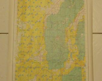 Vintage 1977 Utah Map - Land Ownership Map - Beaver County, Utah