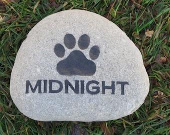 Personalized Pet Memorial Stone Grave Marker for Dog or Cat Pet Memorial Stone Headstone Burial Stone 5-6 Inch Memorial Gift
