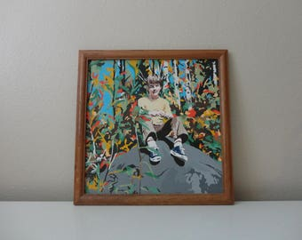VINTAGE BOY PAINTING - paint by number - kids room decor - paint by number collection - portrait wall