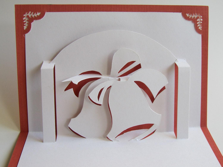Wedding bells invitation 3d pop up card engagement zoom kristyandbryce Choice Image