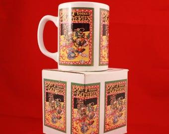 "New! Vintage Mary Engelbreit 4"" Tall 8 Oz. Mug. Christmas"