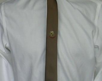Scottish Spirit Mens Brown Skinny Tie Necktie Used Condition