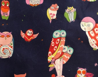 Spotted Owl Navy - Alexander Henry - Fabric - 65 inches