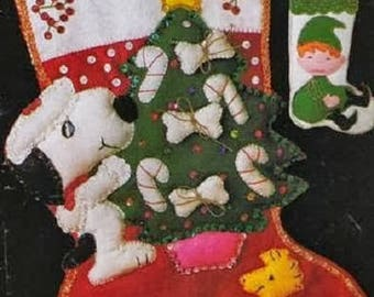 Christmas day Cute Felt Mascots Pattern,Felt Pattern Craft E-Book,Felt Sewing eBook / PDF / Pattern / Instant Download.