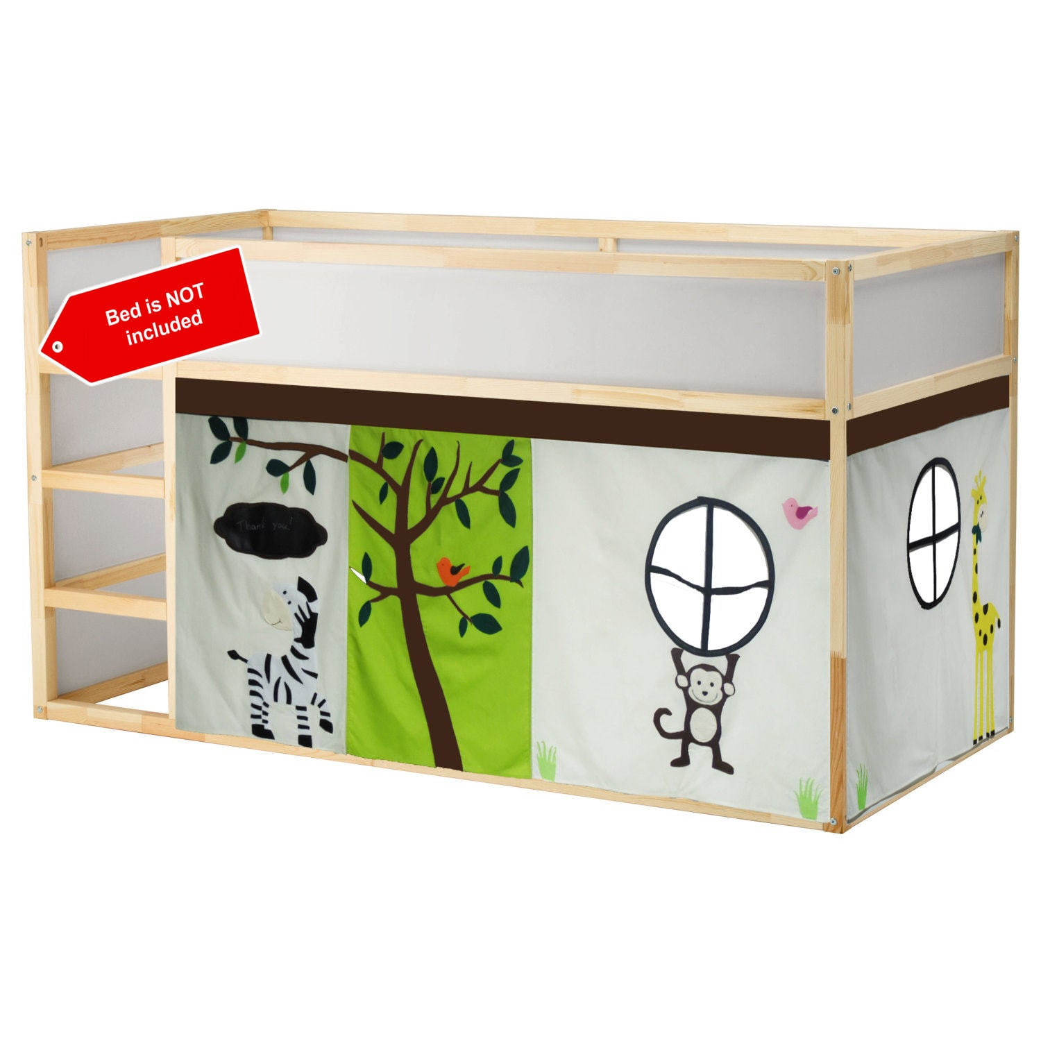 Jungle Theme bed tent Loft bed curtain free design and