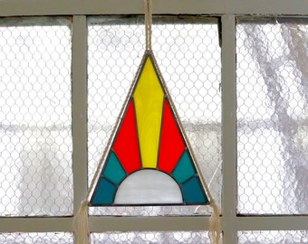 Stained Glass Pyramid with Signature Rope Tassels