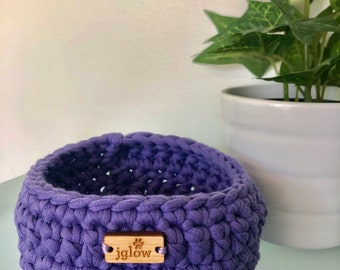 3 Strand Crochet Storage Containers \\ Crochet Baskets \\ Crochet Bowls \\ Bathroom Storage \\ Kid Storage \\ Teen Storage