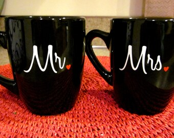Mr. and Mrs. Coffee Mug Set